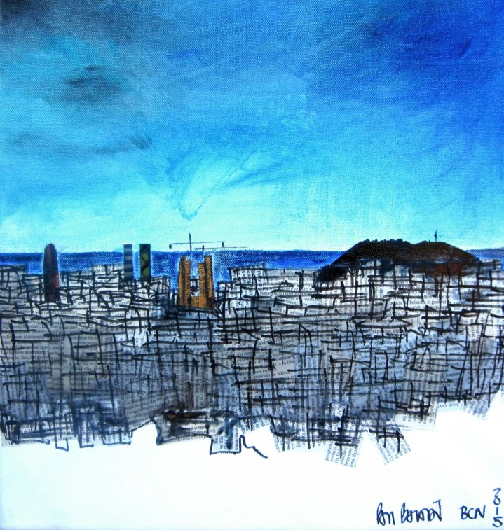 BARCELONA |40X40cm | MIXED TECHNIQUE ON CANVAS | TÉCNICA MIXTA SOBRE TELA