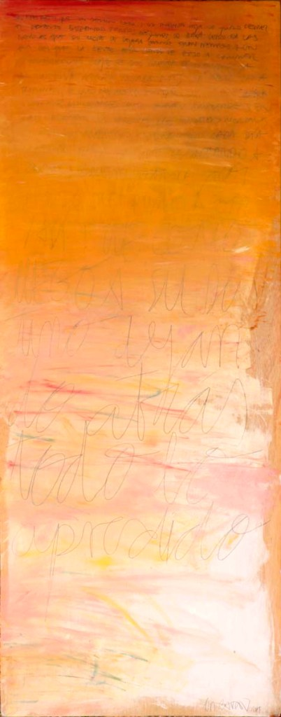 S/T | 2015 | OIL AND PENCIL ON WOOD | 180X70 cm