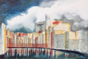 GIRONA | 2014 | MIXED TECHNIQUE ON WOOD |80X120cm
